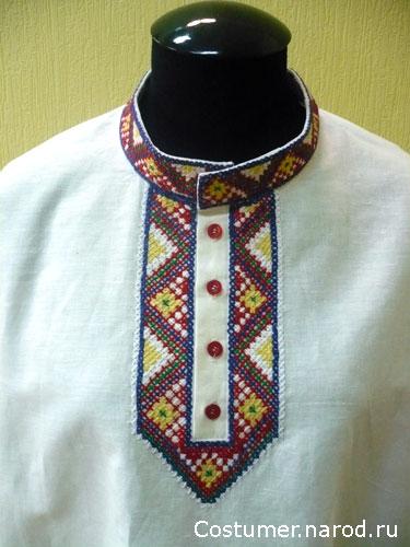 Вышивка на русскую рубаху схемы