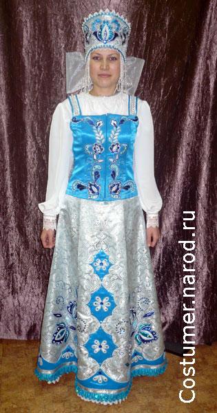 Выкройки русский народный костюм.