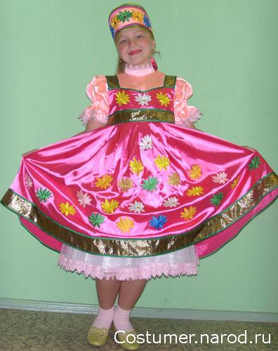 стилизованный детский русский народный костюм для девочки.