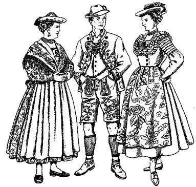 Женский немецкий национальный костюм